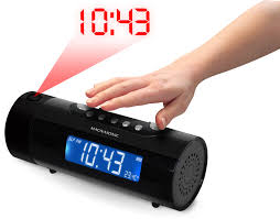 Clock That Shines Time On Ceiling by Am Fm Projection Clock Radio Magnasonic
