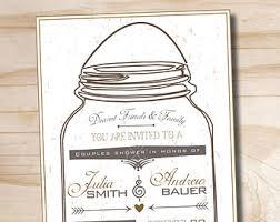 jar invitations jar invitation etsy