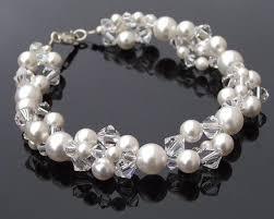 pearl bracelet swarovski images Pearl cluster bracelet swarovski crystal sterling silver jpg