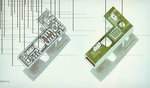oblique floor plans visualizing architecture