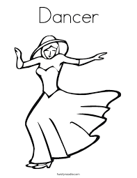 dancer coloring page twisty noodle