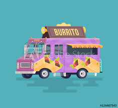 illustration cuisine vector colorful flat burrito truck arabian and eastern