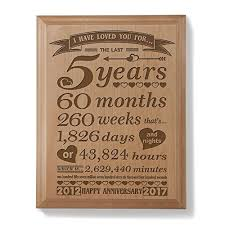 5th wedding anniversary gift 5th wedding anniversary gifts for him
