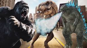 king kong godzilla movie children 3d dinosaurs