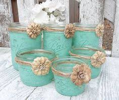 Shabby Chic Wedding Centerpieces by Rustic Turquoise Wedding Table Centerpiece Turquoise Weddings