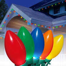led cer awning lights holiday time ultra bright led c9 christmas lights ceramic multi 25