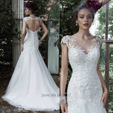 popular country lace wedding dress cap sleeve 2016 buy cheap