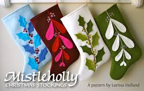 christmas stockings sale mmmcrafts mistleholly felt stocking pattern now available also