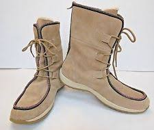 womens boots size 11 ww womens easy spirit adagio 9 ww taupe suede lace up wide