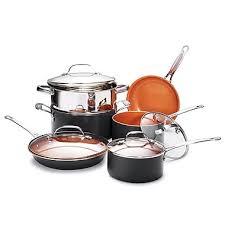 batterie cuisine cuivre gotham steel batterie de cuisine 10 pièces avec poêles à frire