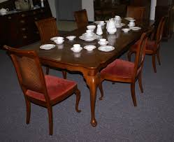 Cane Back Dining Room Chairs Queen Anne Solid Cherry Dining Room Table And Cane Back Chairs