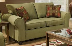 Olive Green Sofa by Fabric Modern Casual Sofa U0026 Loveseat Set W Throw Pillows