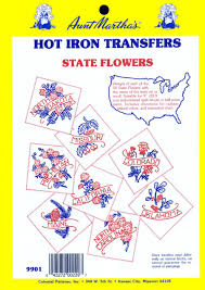 All Fifty States Amazon Com Aunt Martha U0027s State Flowers Iron On Transfer Pattern