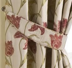 homescapes red cream pencil pleat jacquard curtains pair 117cm 46
