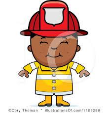 firefighter clipart cartoon pencil color firefighter