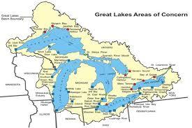 map of calumet michigan great lakes aocs status map great lakes areas of concern us epa