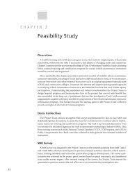 how to write a good paper about yourself chapter 2 feasibility study a national training and page 12