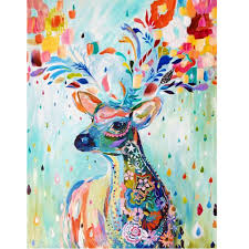 aliexpress com buy deer diy oil painting by numbers digital kit