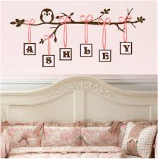 Wall Decals For Boys Nursery by Cute Owl Wall Decoration I Especially Like The Name On The Wall