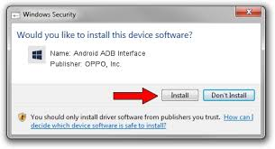 android adb driver and install oppo inc android adb interface driver id