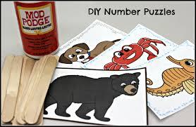 diy number puzzles make take u0026 teach