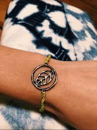 leaf charm bracelet images Leaf charm bracelet madi 39 s malas png