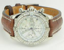 bentley breitling diamond breitling chronomat evolution original diamond bezel ref a13356