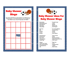 sports bingo game printable sports baby shower bingo game