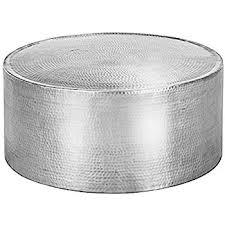 Aluminum Coffee Table Aluminum Satin Polished Lyric Hammered Coffee Table 35