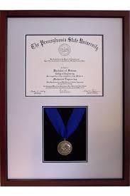 frame for diploma penn state schreyer s honors medal diploma frame frame