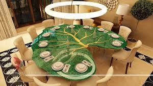 luxurious interior living room dining u0026 kitchen rendering design