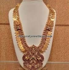 Buy Kasu Mala Lakshmi Ji Ps 1 128 Laxmi Ji Coin Chand Polo Temple Coin Pendant Set