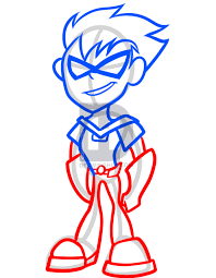 draw robin teen titans step step darkonator