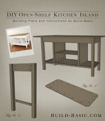 plans for building a kitchen island build a diy open shelf kitchen island build basic with regard to