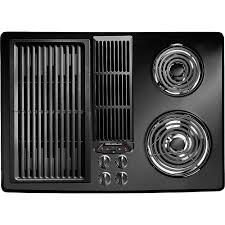 Downdraft Cooktops Jed8130adb Jenn Air 30 Downdraft Electric Cooktop Black On Black