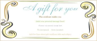 editable gift certificate template free gift certificate