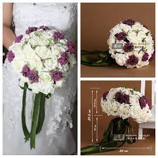cheap garlands for weddings simple pe flowers bridal bouquet wedding accessories manual purple