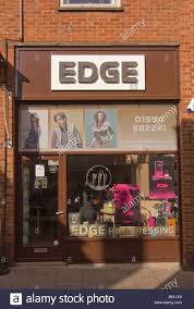 edge hairdressing salon hairdressers shop for haircuts in stock
