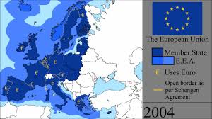 Map Of The European Union by The History Of The European Union Every Year Youtube
