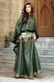 latest pakistani cape style dresses 2017 2018 designer collection