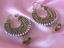 earring online buy golden oxidized earring online