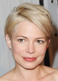 short hair cuts where hair is tucked around the ear for women actress michelle williams short hairstyles a slideshow shorter