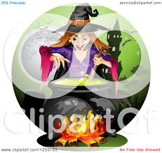 haunted house clipart free clipart of an evil witch mixing a spell in a cauldron over a