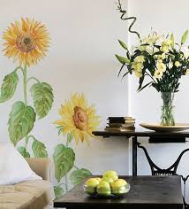 home decor line buy vinyl sunflower wall sticker by home decor line