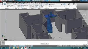 Cad House by Autocad U Type 3d Stair In Auto Cad For 3d House Youtube