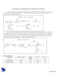 hypochlorite oxidation organic chemistry lab manual docsity