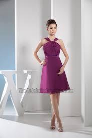 discount short purple chiffon a line party cocktail dresses