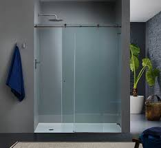 shower ideas frosted glass doors amazing glass shower barn door