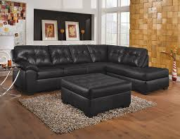 Black Tufted Sofa by Simmons Upholstery Showtime Shi Soho Black Onyx Sectional Sofa