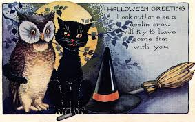 the daily glean vintage halloween cards
